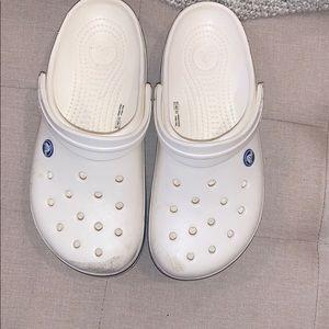 White size 9 crocs !